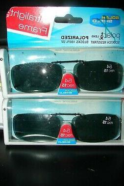 2 *Solar SHIELD CLIP ON Sunglasses ULTRALIGHT 54 rec 15