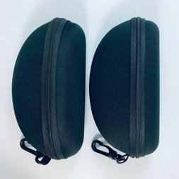 2 PACK ZIPPER HARD PROTECTOR Eyeglass & Sunglass Case with B