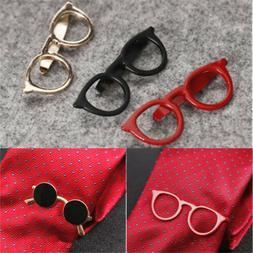 Vintage Glasses Shape Tie Clip Bar Necktie Pin Clamp Mens Ac