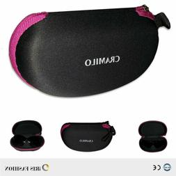 2PK Zipper Eye Glass Hard Case Box Sunglasses Protector Trav
