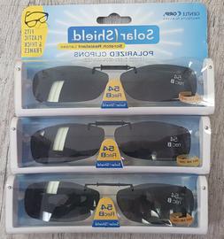 3 pack Solar Shield Frameless Clip-on Polarized Sunglasses 5