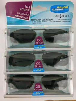 3 Pack Solar Shield Polarized Clip Ons Sunglasses 50 rec 13