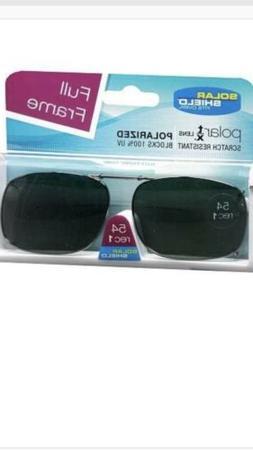 3 SOLAR SHIELD Clip-on Polarized Sunglasses Size 54 Rec 1 Bl