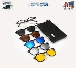 5 in 1 Clip on Sunglasses, Night Vision, Polarized,TR90 Magn