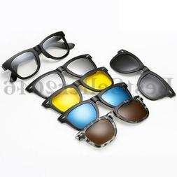 5Pcs Clip-on TR90 Polarized Sunglasses Magnetic Lens Plastic