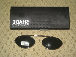 Shade Control adult clip on sunglasses CAT 50 cat eye Polari
