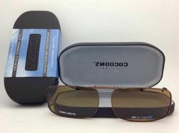 COCOONS Amber Polarized Sunglasses/Eyeglasses Over Rx Clip-o