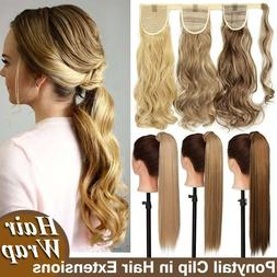 Any Shades Clip in as Real Thick Ponytail Hair Extensions Wr