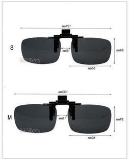 Black Flip Up Clip-on Reduce Glare UV Protection Sunglasses