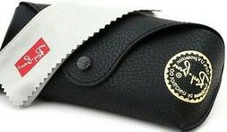 Ray Ban Black Leather Case Sunglasses Case Snap Travel Eyegl