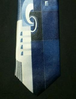 PURITAN BOYS CLIP ON TIE NWOT SHADES OF BLACK BLUE WITH WHIT