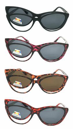 cat eye clear bifocal glasses magnetic polarized