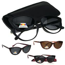 Cateye Magnetic Clip On Polarized Sunglasses On Bifocal Read