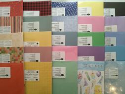 CHOOSE Creative Memories PAPER PACKS KITS Color Shades Card