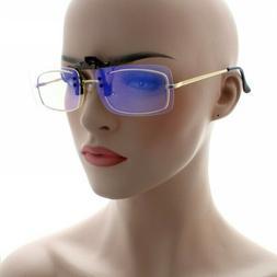 Clip On Flip Up Computer Lens Fit Over Glasses Sunglasses Fi