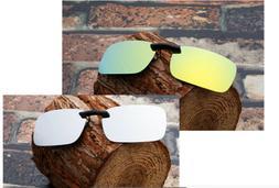 Clip-on Polarized Sunglasses Lens Light Weight Fishing Drivi