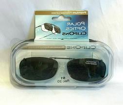 Polar Optics Clip-on Polarized Sunglasses with Case 51 Rec 2