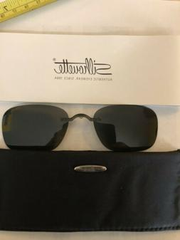 Silhouette Clip On Sunglasses 5065 52mm X 35mm Gray Tint Pol