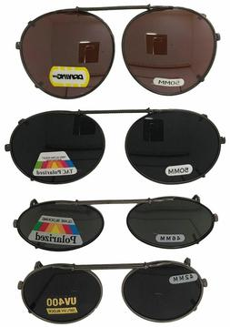 Clip On Sunglasses - Oval Round Frame Glasses - Many Lens Op