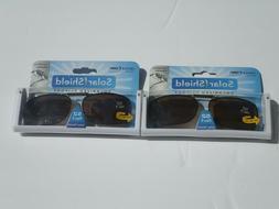 Clip On Sunglasses Polarized 2 Pair Spring Solar Shield Brow