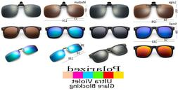 Clip On Sunglasses Polarized Glare Blocking Lens Flip Up Gla
