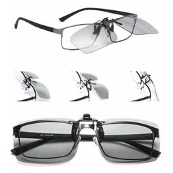 Clip-on Sunglasses Polarized Photochromic Transition Outdoor