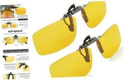 Clip-on Sunglasses, Splaks Unisex Polarized Frameless Rectan