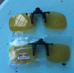 Clip-on SunglasseS Unisex Polarized Frameless Rectangle Lens
