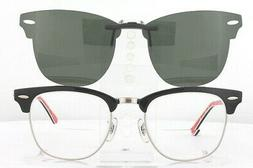 Custom Fit Polarized CLIP-ON Sunglasses For Ray-Ban CLUBMAST