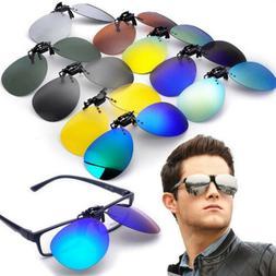 Driving Clip On Lenses Flip Up Polarized Sunglasses Fishing