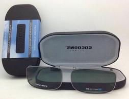 COCOONS Grey Polarized Sunglasses/Eyeglasses Over Rx Clip-on
