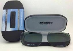 grey polarized sunglasses eyeglasses over rx clip