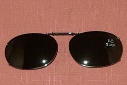 Foster Grant Gunmetal Clip on Clip-on Sunglasses Smoke Recta