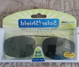 Foster Grant Gunmetal Clipon Clip-on Sunglasses Smoke Lenses
