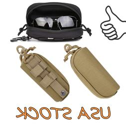hard case tactical molle zipper sunglasses carrying
