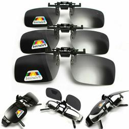 Hot Clip-on Polarized Square Sunglasses Flip-up Lens Driving