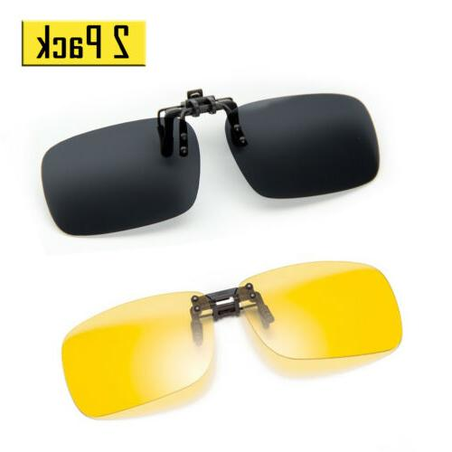 2 pack polarized lens classic clip on