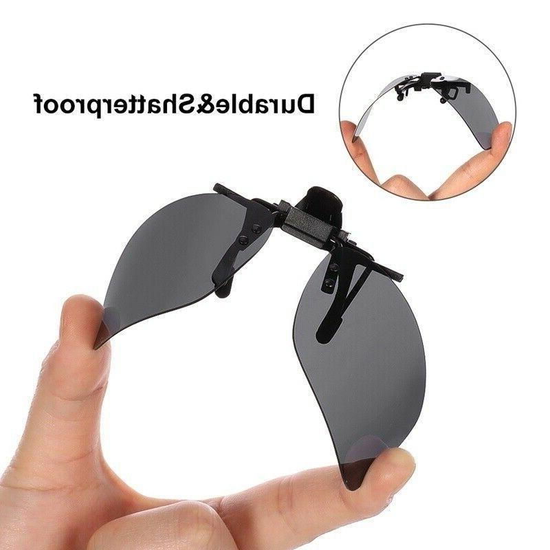 2 Flip-Up Driving Sunglasses Day Night