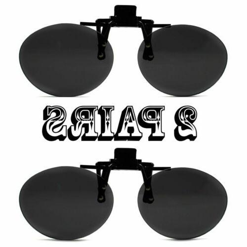 2 super black round oval lens clip