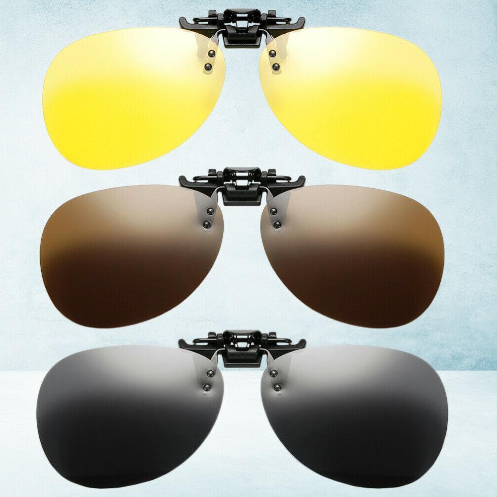 3pcs stylish practical clamping piece sunglasses clip
