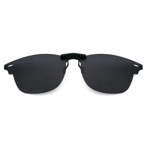 black polarized custom clip on sunglass