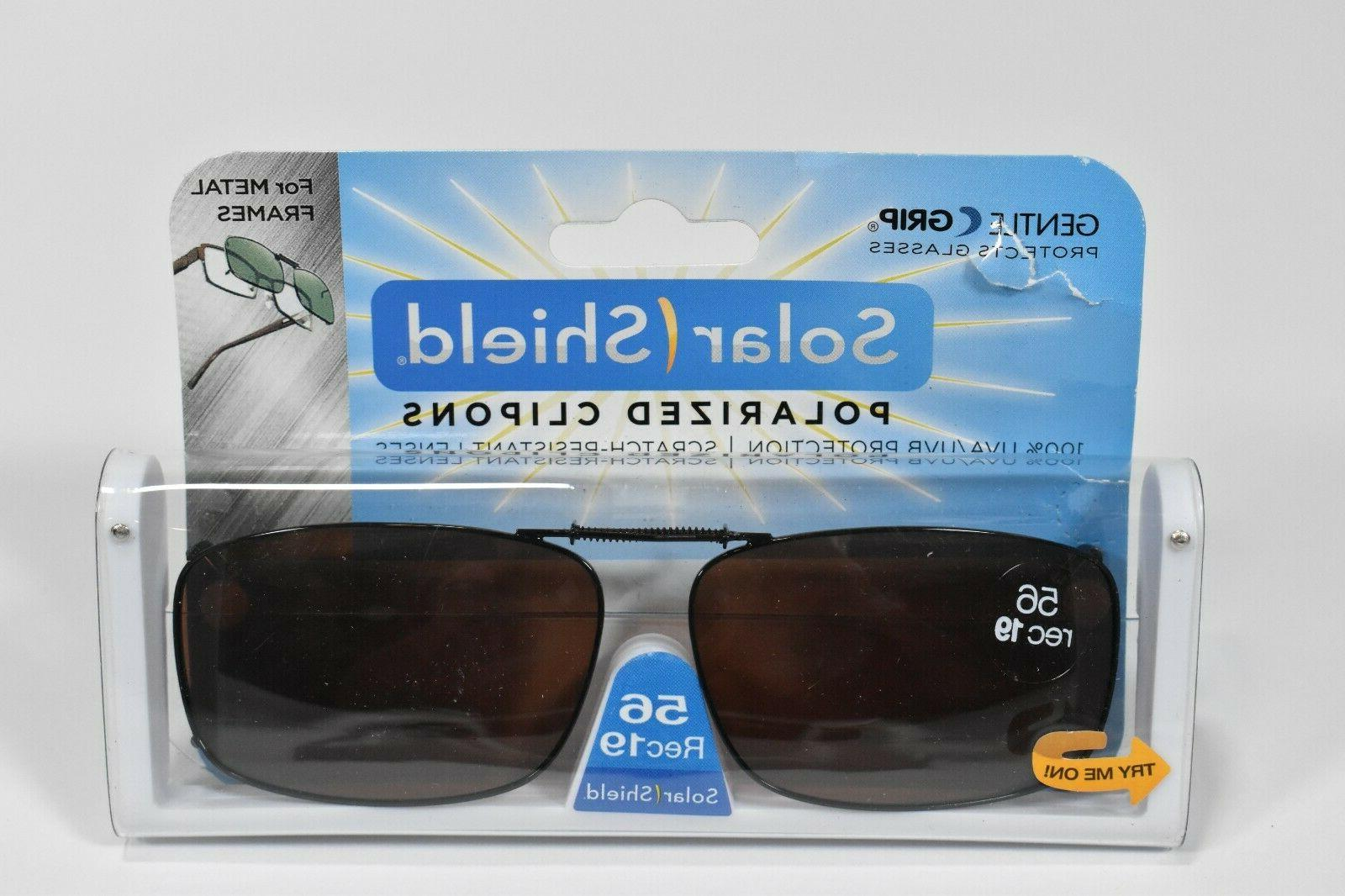 clip on polarized sunglasses 56 rec19 brown