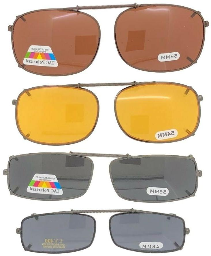clip on sunglasses for glasses rectangle sizes