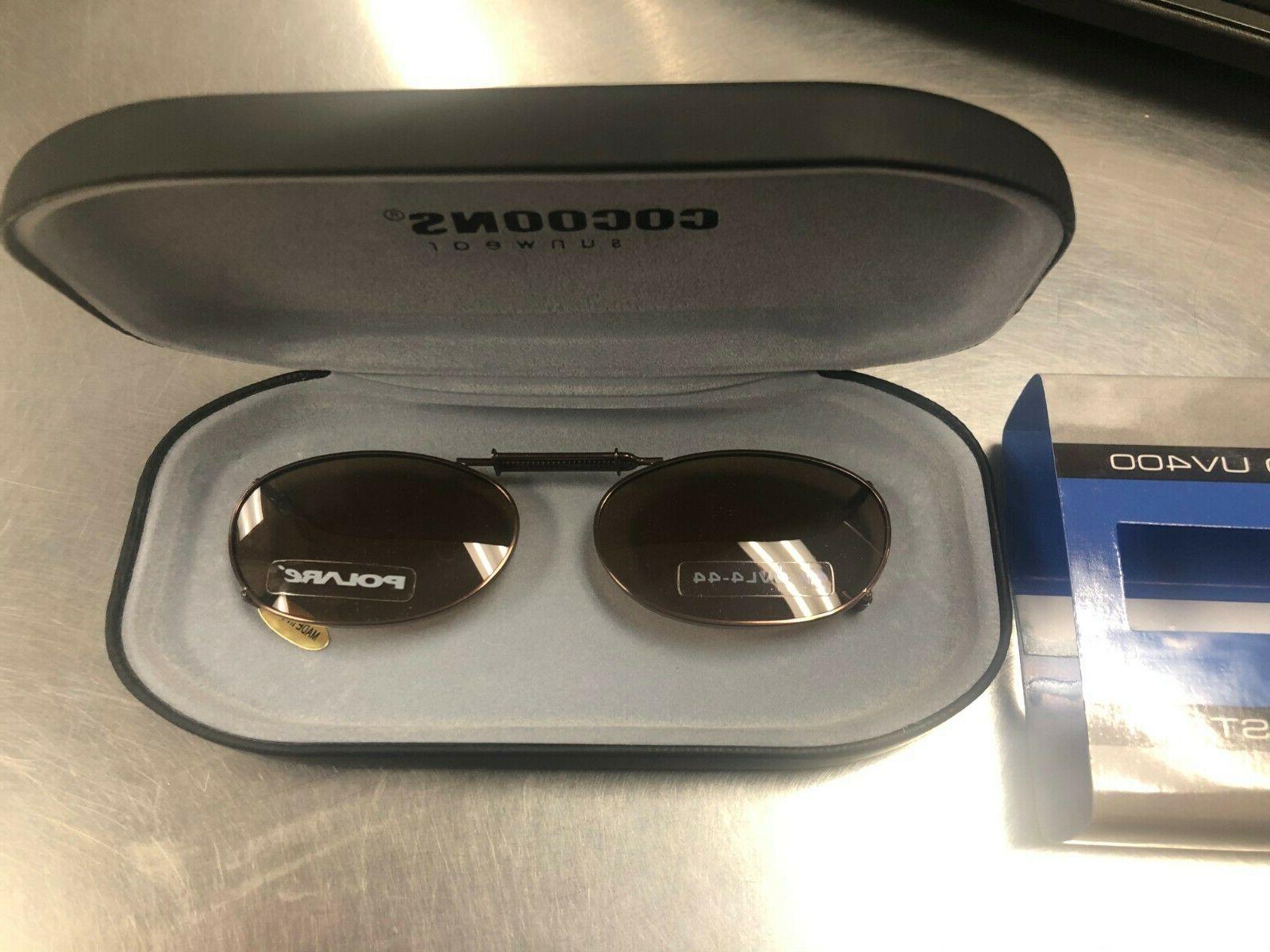 clip on sunglasses ov4 44 bronze