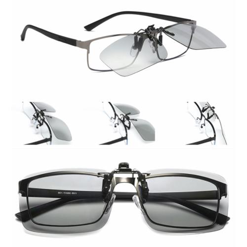 clip on sunglasses polarized photochromic transition outdoor