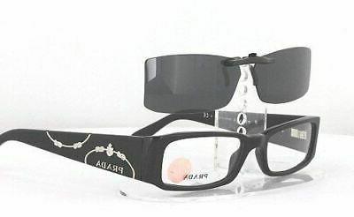 Custom for PRADA VPR071-51X16 Clip-On Sunglasses (Eyeglasses Not