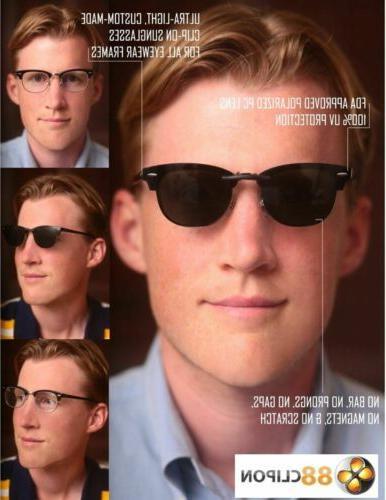 Custom Made for VPR01N-54X19 Clip-On Sunglasses (Eyeglasses