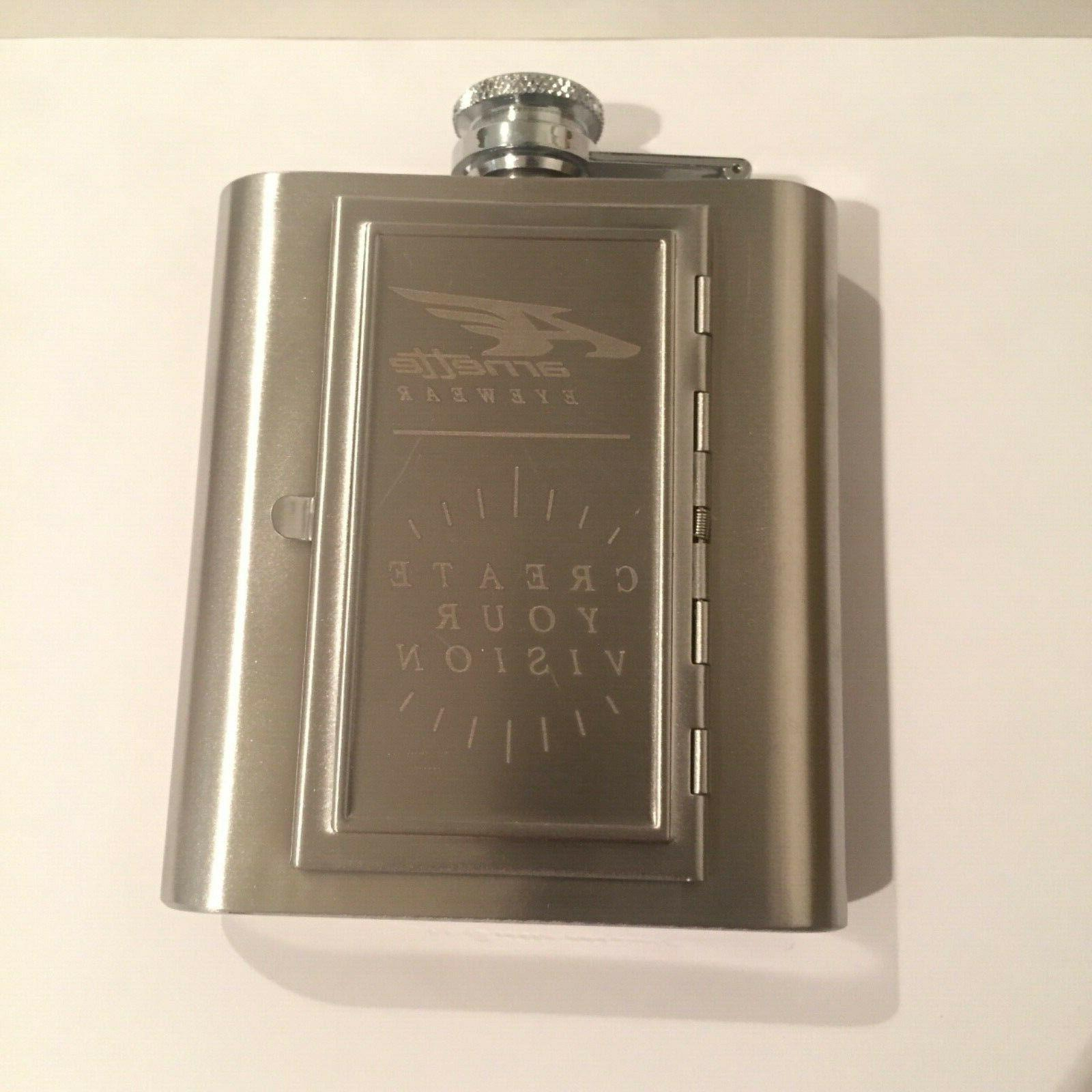 flask and money clip