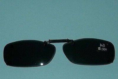 frameless clip on sunglasses smoke len 54