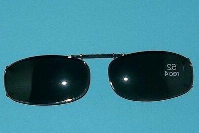 gunmetal clip on sunglasses smoke lenses 52